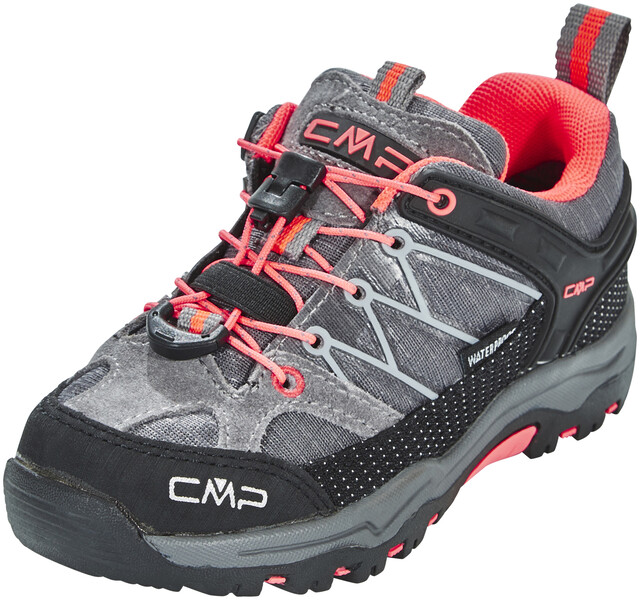 CMP Campagnolo Rigel Low WP Trekking Shoes Kids grey red fluo